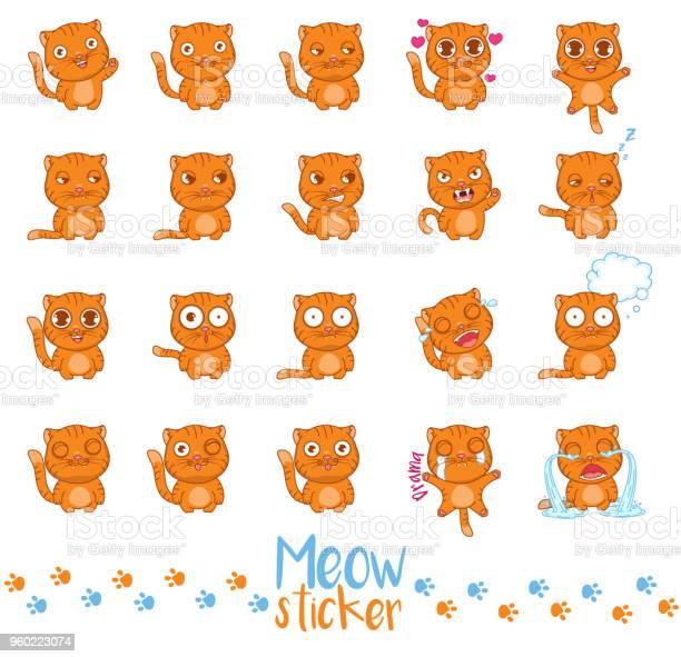 Meow sticker set vector id960223074?b=1&k=6&m=960223074&s=612x612&h=u1zsxaufnarguyoxbl34p bpx5smsddasxuc4tsqqhy=