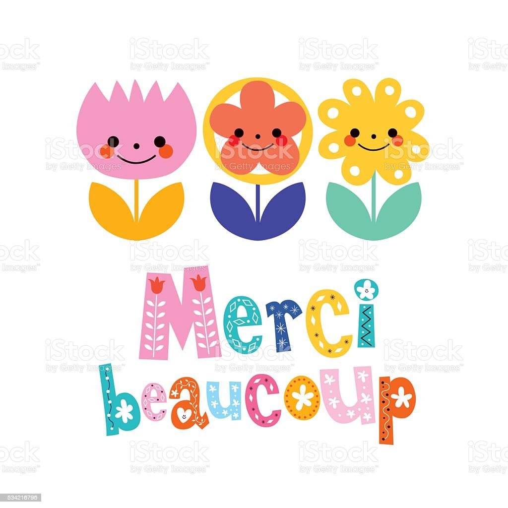 royalty free merci beaucoup clip art vector images illustrations rh istockphoto com merci clipart Thank You Clip Art
