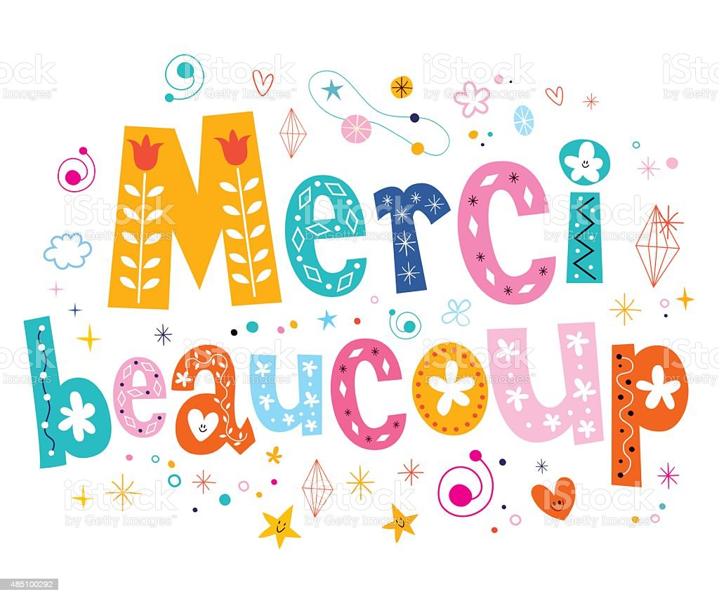 royalty free merci beaucoup clip art vector images illustrations rh istockphoto com merci clipart mercy clip art