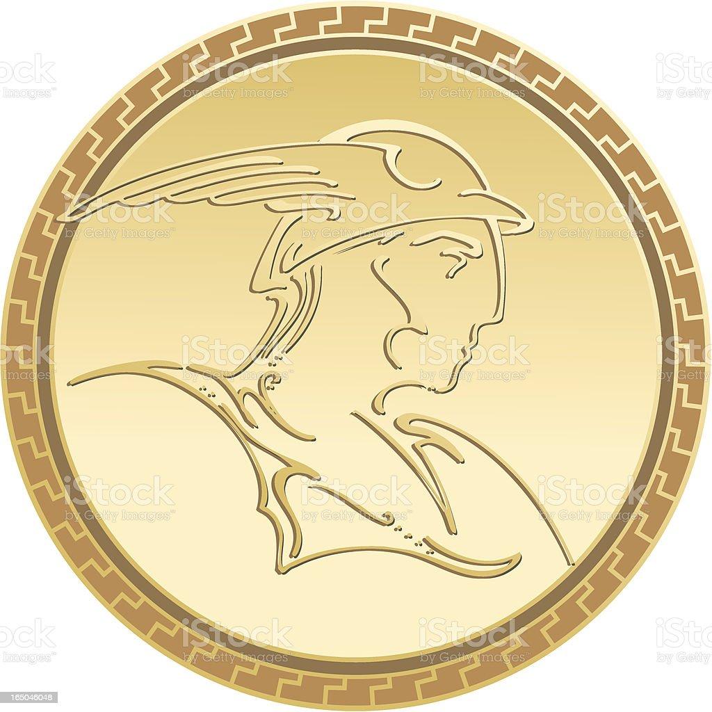 mercur god medal royalty-free stock vector art