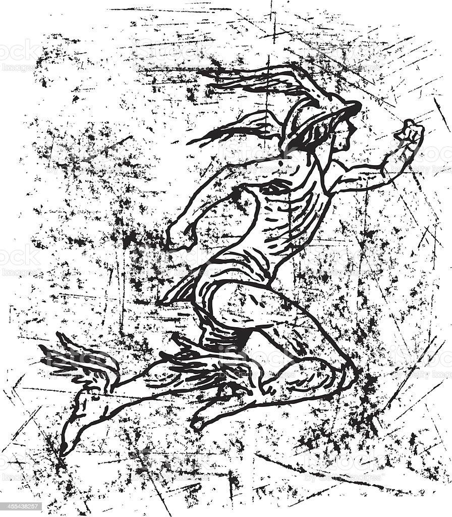 Mercury - Roman God, Hermes royalty-free stock vector art