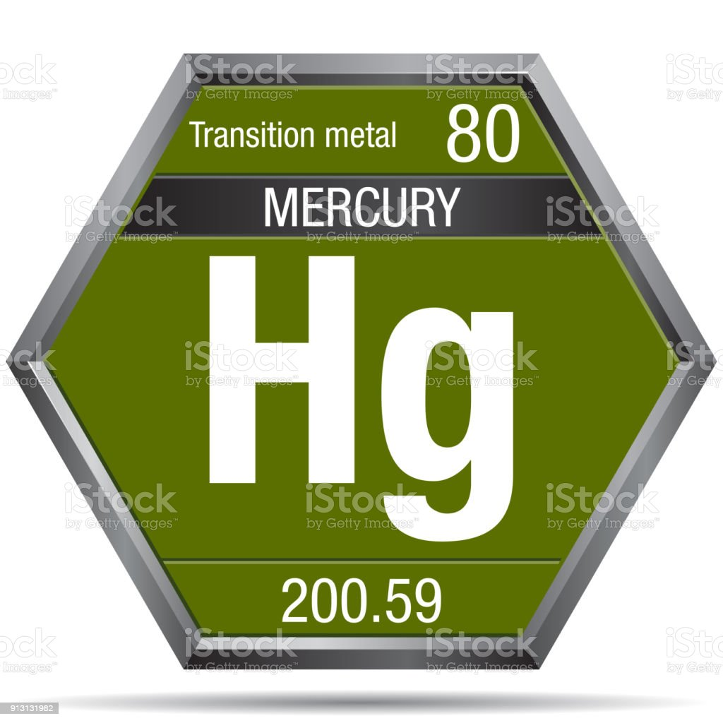 Mercury symbol in the form of a hexagon with a metallic frame mercury symbol in the form of a hexagon with a metallic frame element number 80 urtaz Image collections