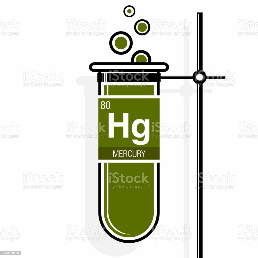 Mercury symbol on label in a green test tube with holder element mercury symbol on label in a green test tube with holder element number 80 of urtaz Image collections