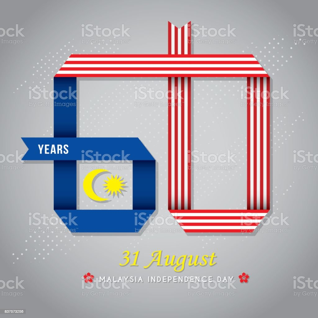 Merdeka_60 years vector art illustration