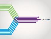 Merge arrows infographic