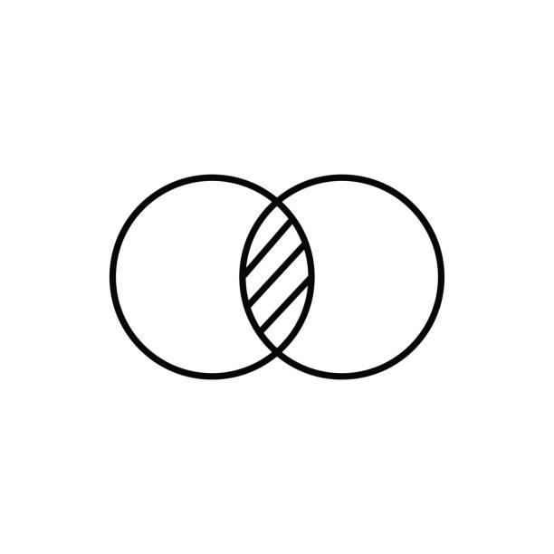 merge cycle icon vector art illustration