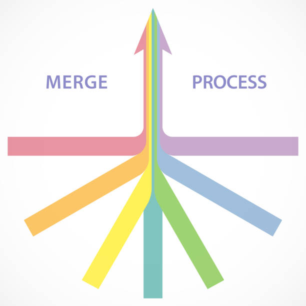 Merging Sign Illustrations, Royalty-Free Vector Graphics ...