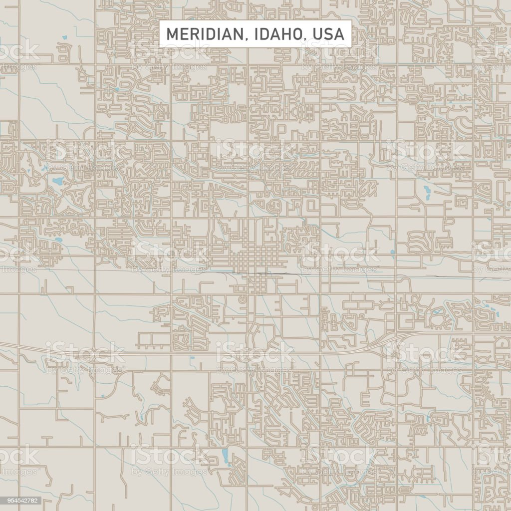 Meridian Idaho Us City Street Map Stock Illustration ... on map of brownlee dam, map of pine, map of mountain time zone, map of payette river, map of clark fork, map of nampa, map of united states, map of bliss, map of wilder, map of oldtown, map of challis, map of meridian, map of sandpoint, map of arco, map of pocatello, map of diomede, map of ponderay, map of craigmont, map of culdesac, map of murphy,