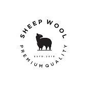 istock Merino wool Nature icon. Vector sheep   wool template. Goat Angora Vintage Retro Hipster 1248742821
