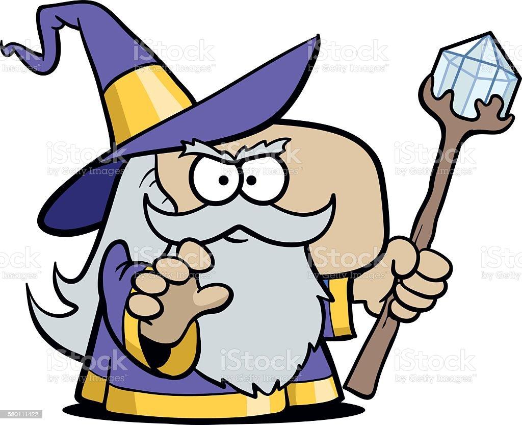 Merlin the Wizard vector art illustration
