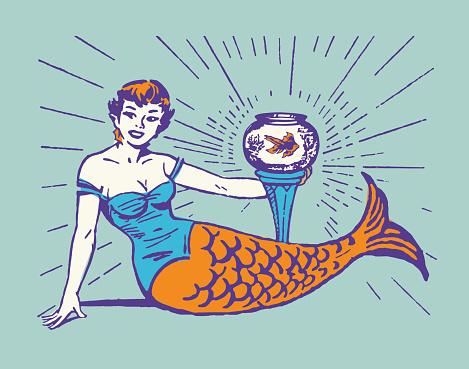 Mermaid and Fishbowl