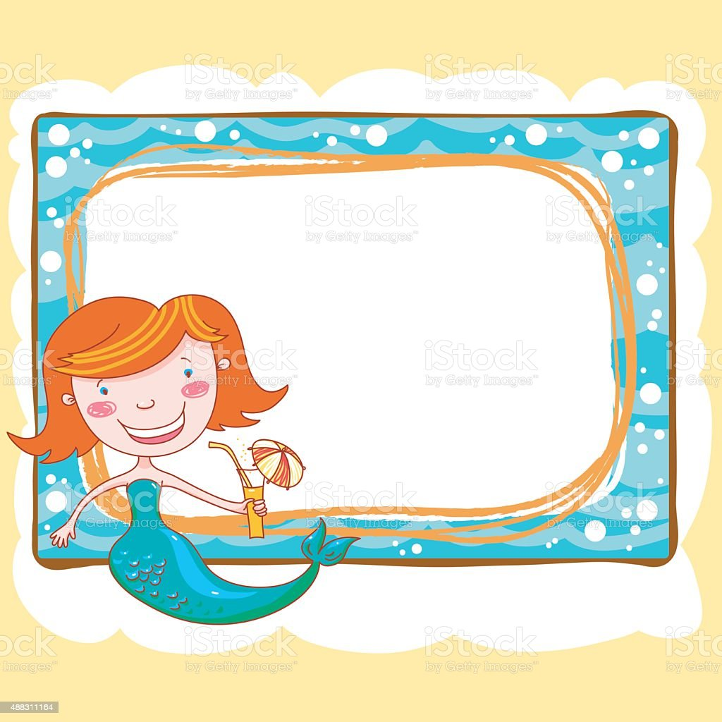 Mermaid Frame Stock Vector Art & More Images of 2015 488311164 | iStock
