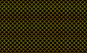 mermaid golden pattern, fish scale pattern golden art line on black background, mermaid tail pattern gold line art for decoration