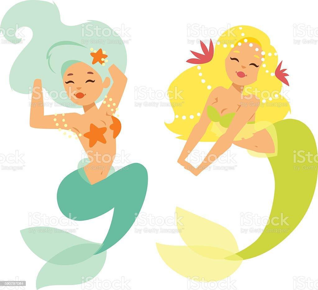 Mermaid nixie character vector illustration royaltyfri mermaid nixie character vector illustration-vektorgrafik och fler bilder på akvatisk organism