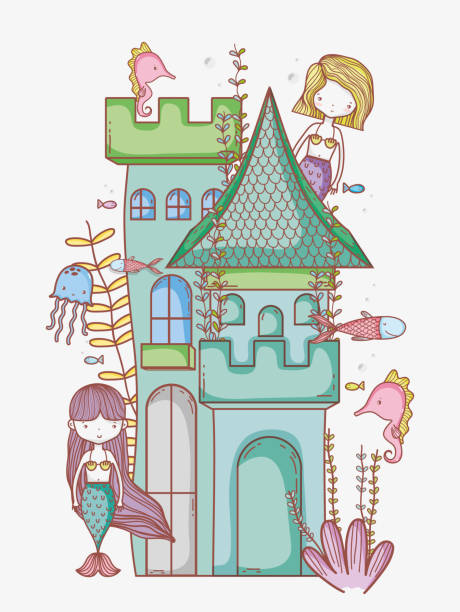 Royalty Free Underwater Castle Clip Art, Vector Images ...