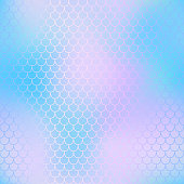 Mermaid scale background. Pastel colors fish scale seamless tile. Purple blue blurred mesh