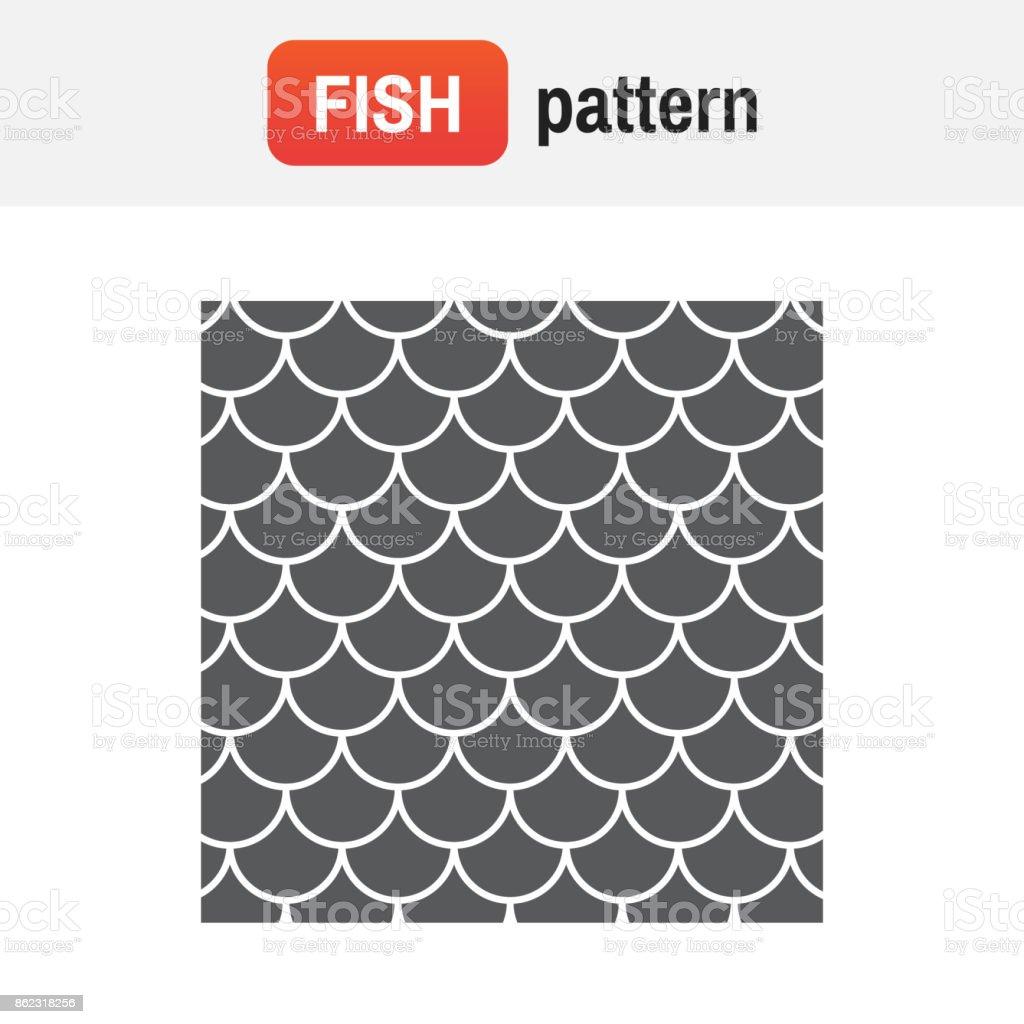 mermaid scale pattern. fish pattern vector illustration vector art illustration