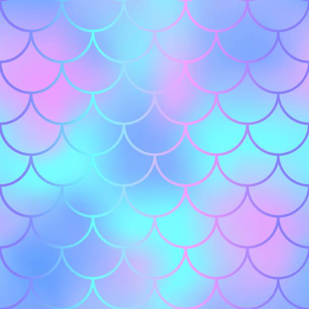mermaid seamless pattern. magic fishscale seamless background - femininity stock illustrations