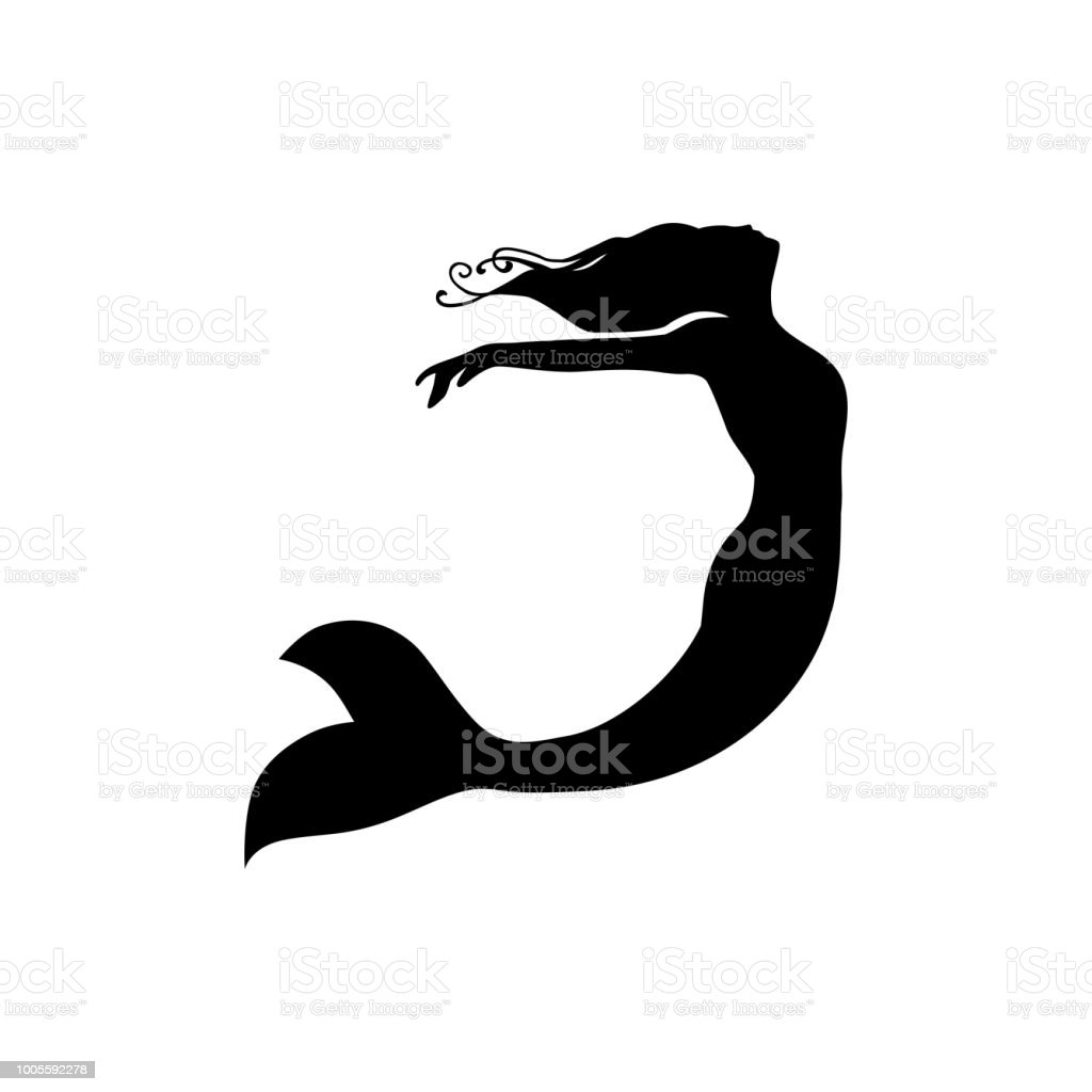 mermaid vector art illustration