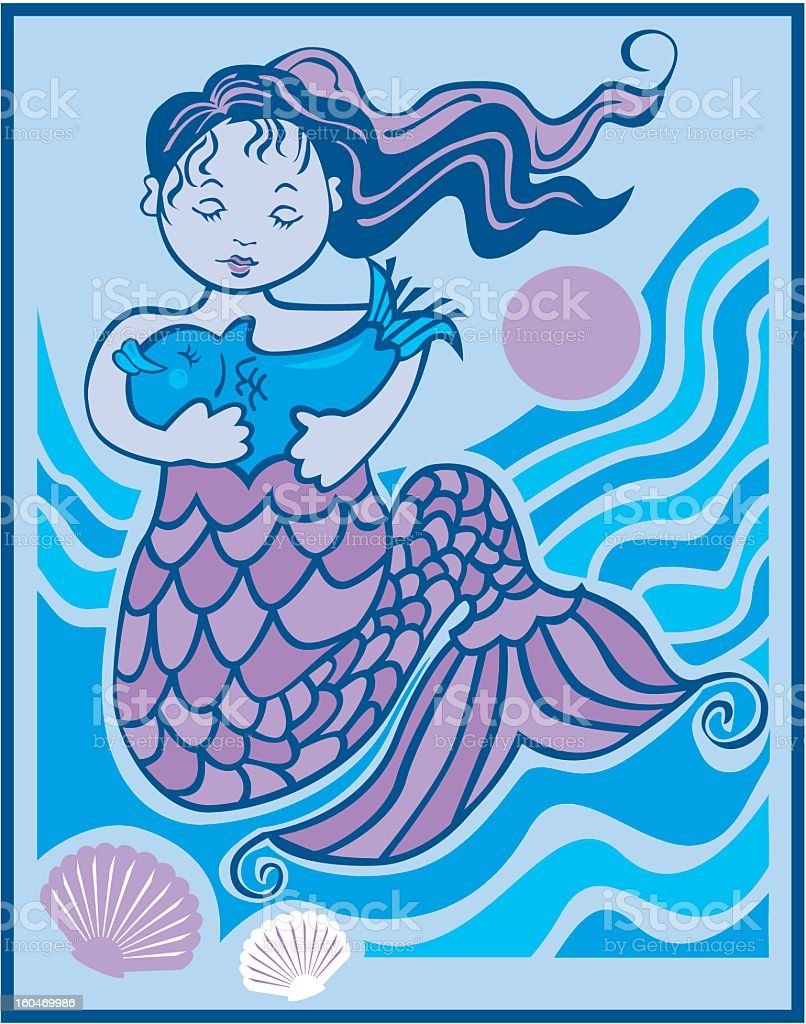 Mermaid royalty-free mermaid stock vector art & more images of animal shell