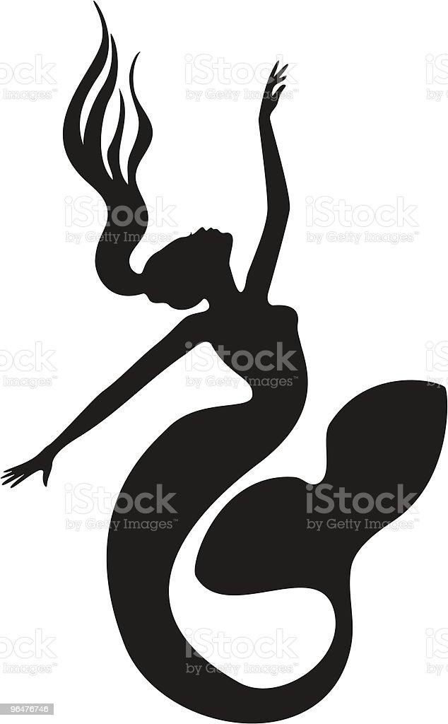 Mermaid royalty-free mermaid stock vector art & more images of black color