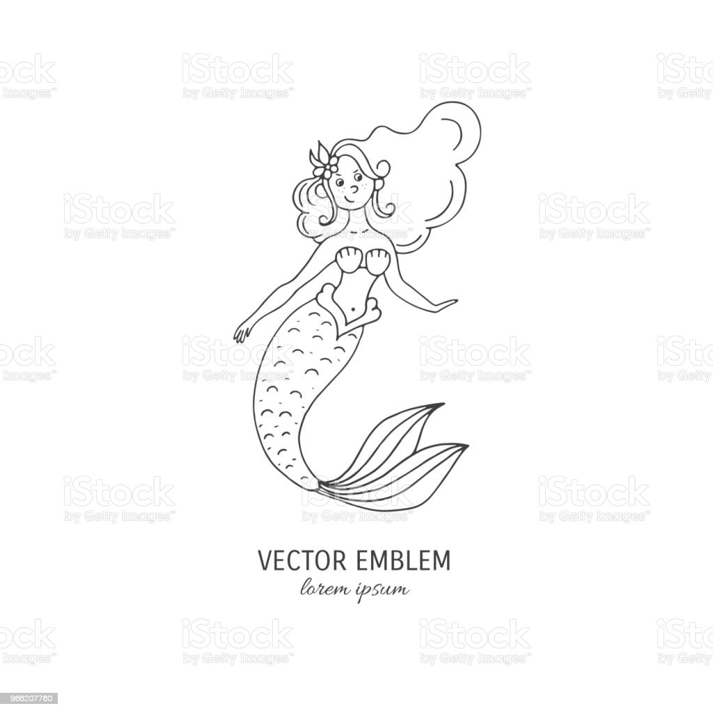 Mermaid Vector Outline Royalty Free Mermaid Vector Outline Stock Vector Art  U0026amp; More Images