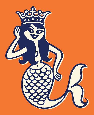 Mermaid Wearing Crown
