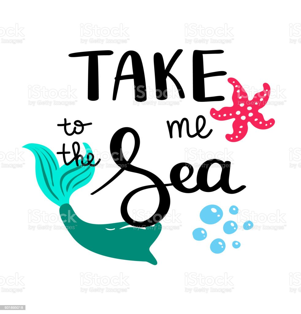 Ilustración De Besos De Las Sirenas Inspiracional Sobre