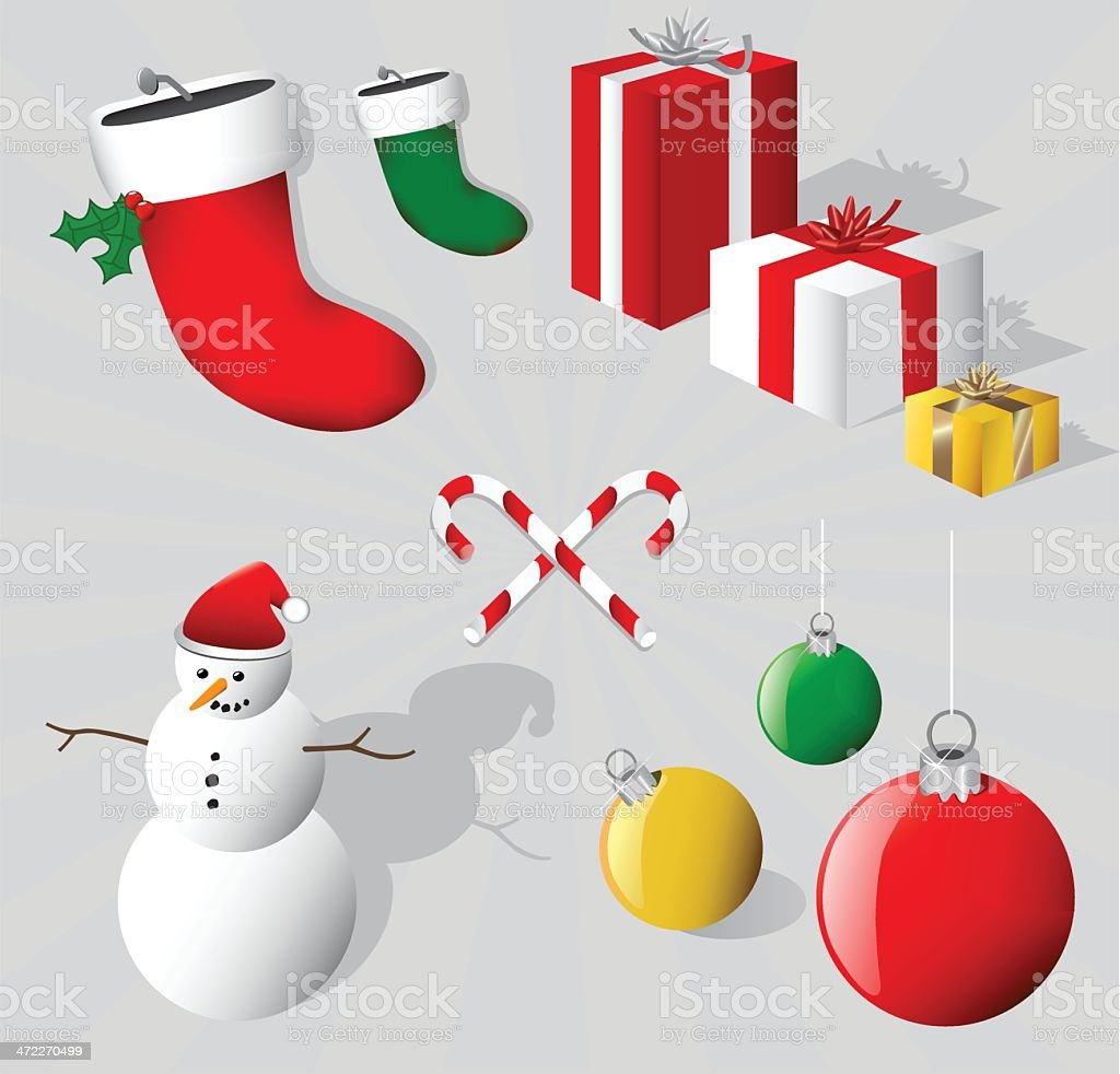 Merry 3D Christmas Elements [vector] royalty-free stock vector art