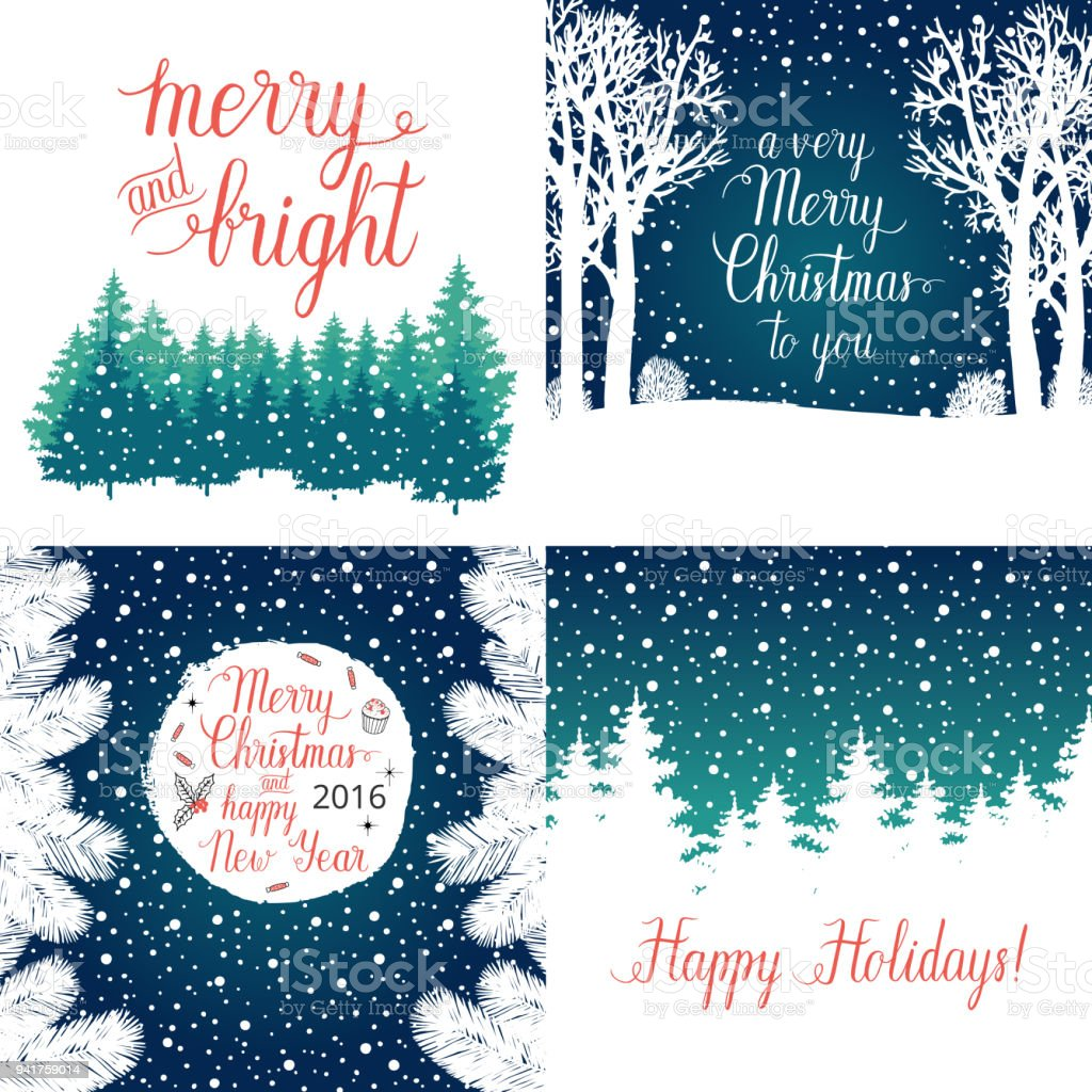 Merry And Bright Christmas Happy Holidays Happy New Year Greeting