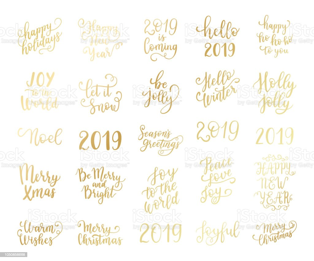 Merry And Bright Christmas Happy Holidays Happy New Year Labels