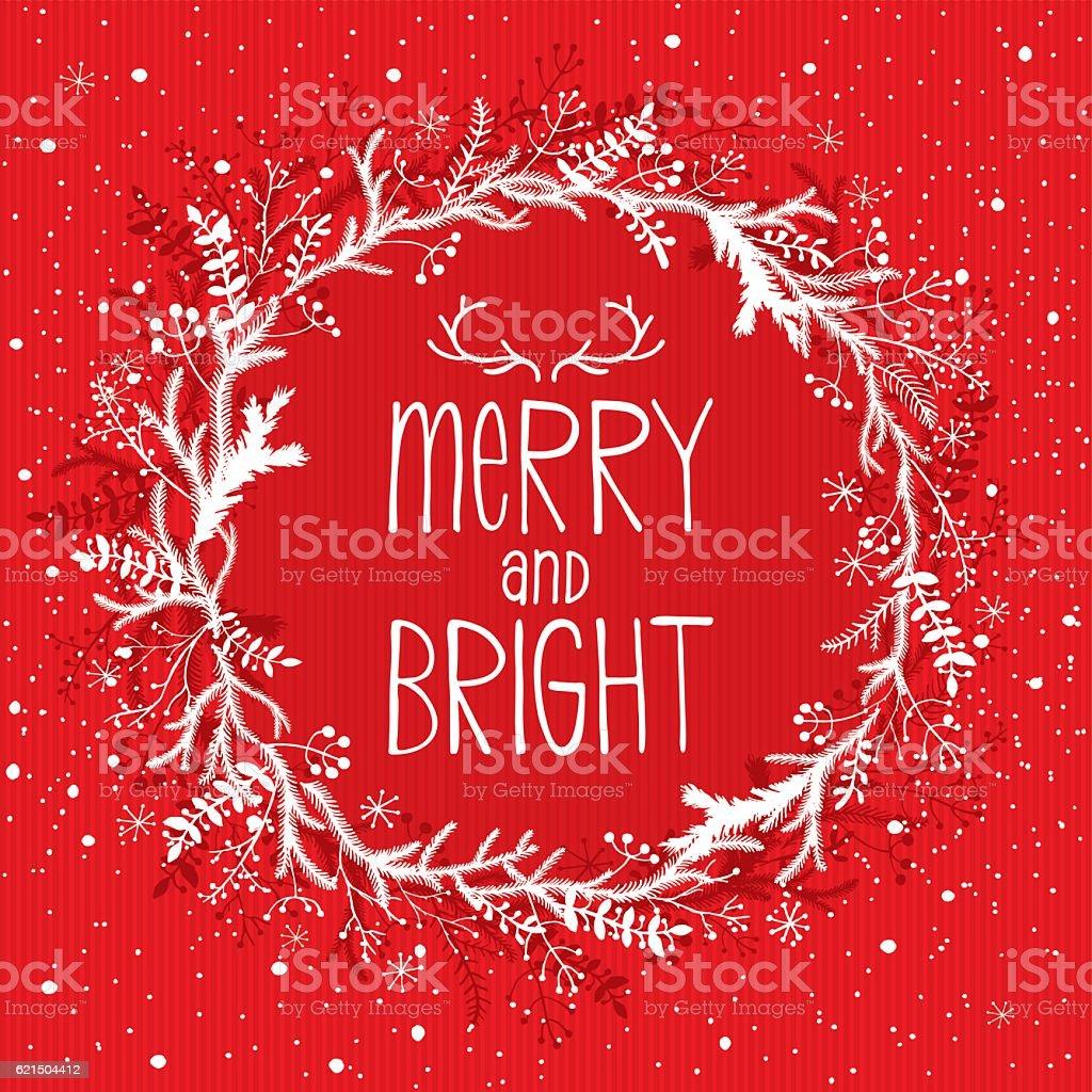 Merry And Bright merry and bright - immagini vettoriali stock e altre immagini di bianco royalty-free