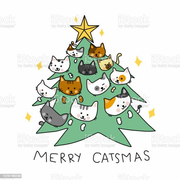 Merry catmas tree cartoon vector doodle style illustration vector id1029798208?b=1&k=6&m=1029798208&s=612x612&h=deyaucr85xdphlvciz5ytgngjkhjxbxqhw27tvbufco=