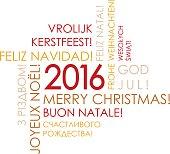 Text Design Illustration of Christmas Postcard