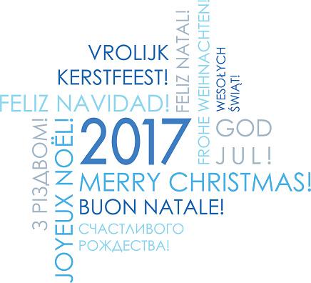 Merry Christmas 2017 - International Greeteng Card