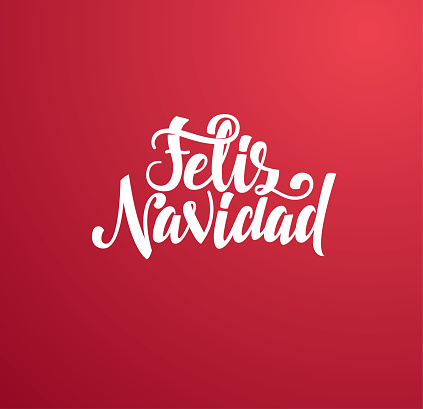 Merry Christmas 2021 vector illustration. hand-written lettering. Feliz navidad design graphics for brochures, gift cards, flyers and postcards. translated from Spanish: Merry Christmas