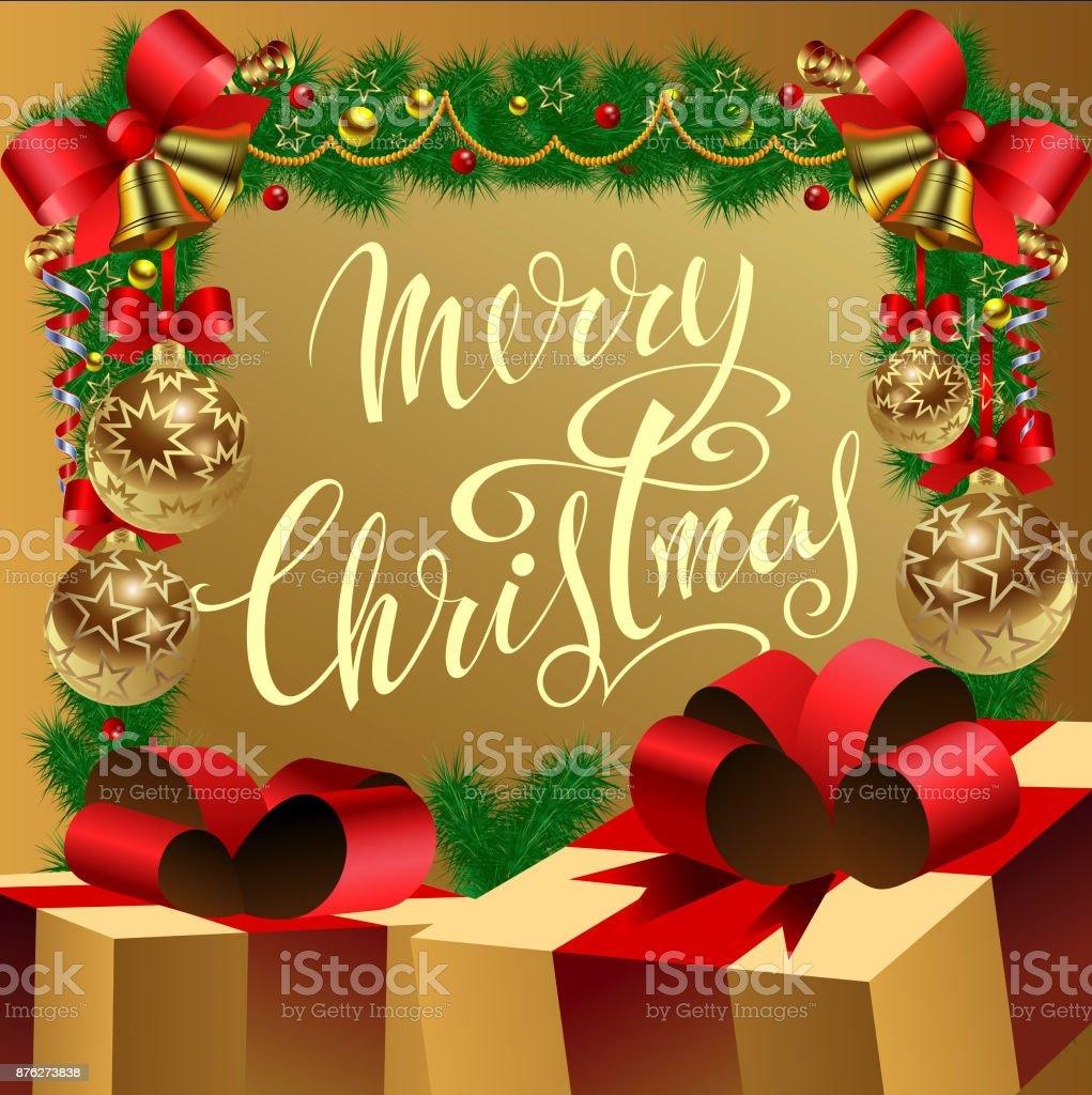 393488db2e658 Ilustración de Feliz Navidad Un Cartel De Felicitación Con Basura Un ...
