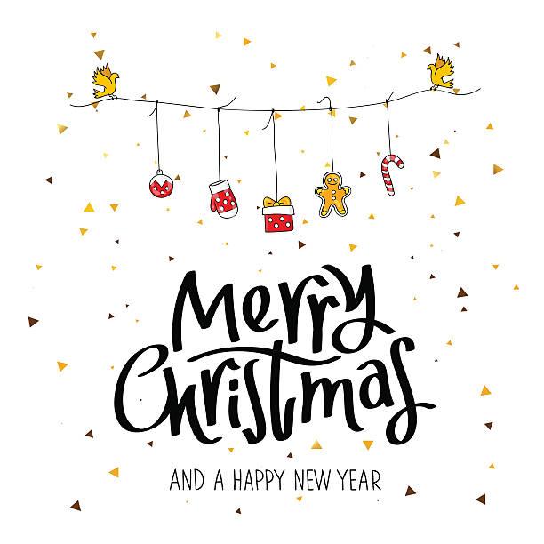frohe weihnachten und ein glückliches neues jahr - wunschkinder stock-grafiken, -clipart, -cartoons und -symbole