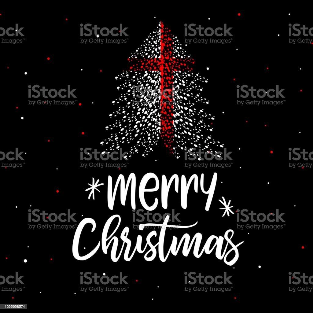 Weihnachtsbaum England.Frohe Weihnachten Und Einen Weihnachtsbaum Mit England Flagge Stock