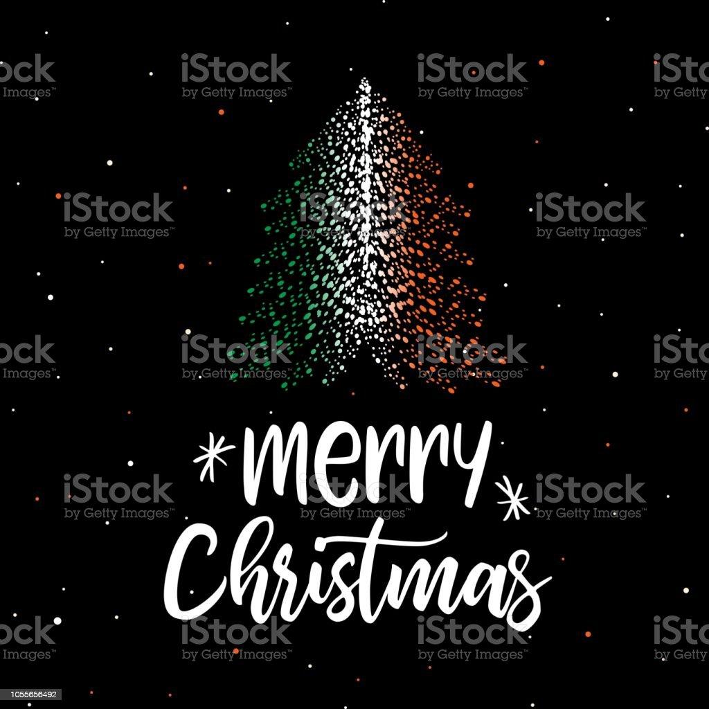 Frohe Weihnachten Irisch.Frohe Weihnachten Und Einen Weihnachtsbaum Mit Irische Flagge Stock