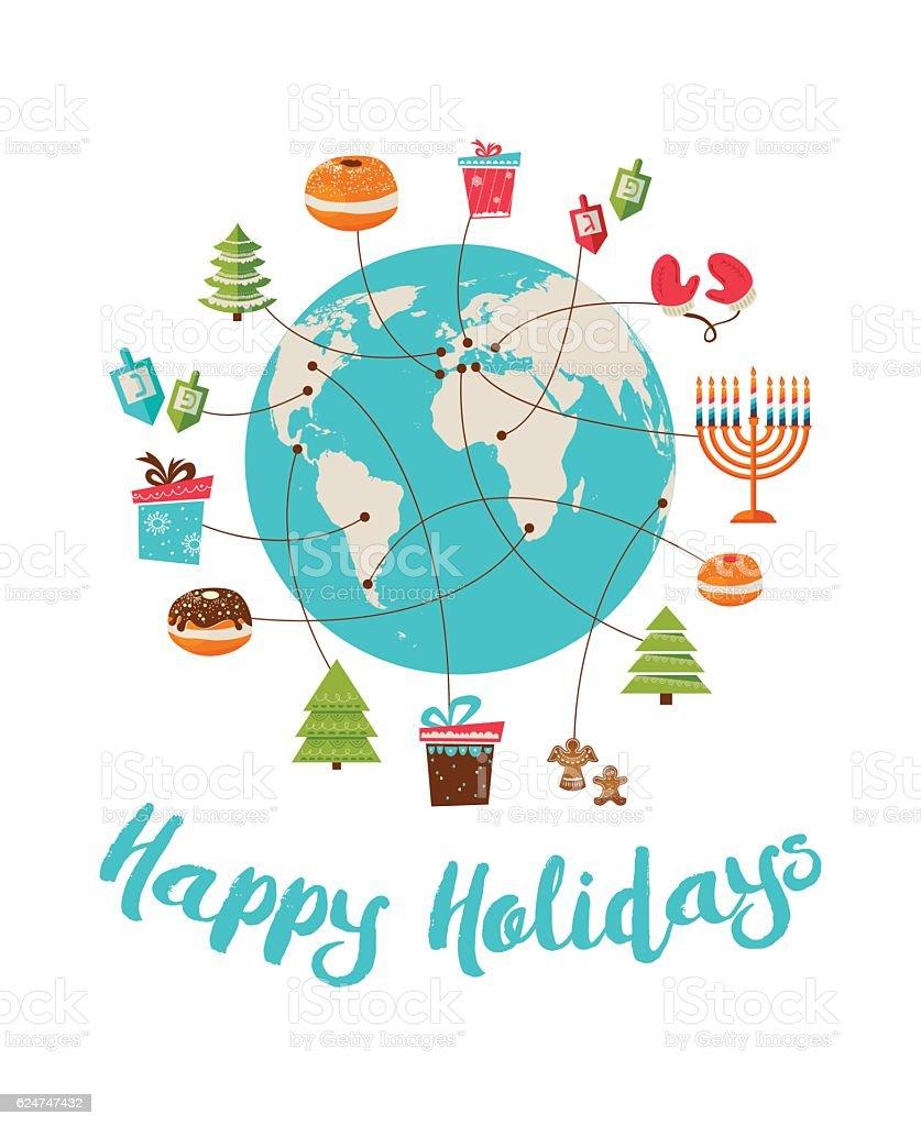 merry christmas and happy hanukkah global celebration royalty free merry christmas and happy hanukkah