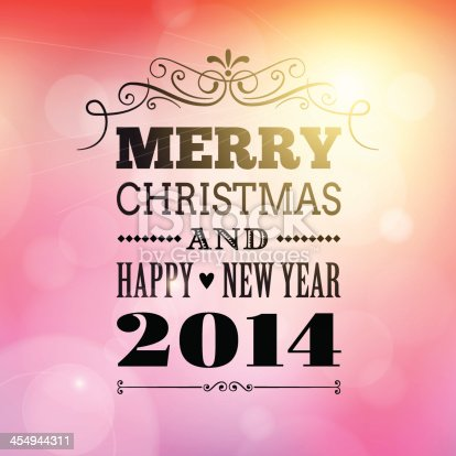 istock merry christmas and happy new year 2014 poster card. 454944311