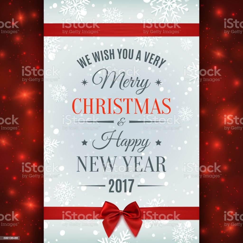 Merry Christmas And Happy New Year 2017 Card Stock Vector Art More