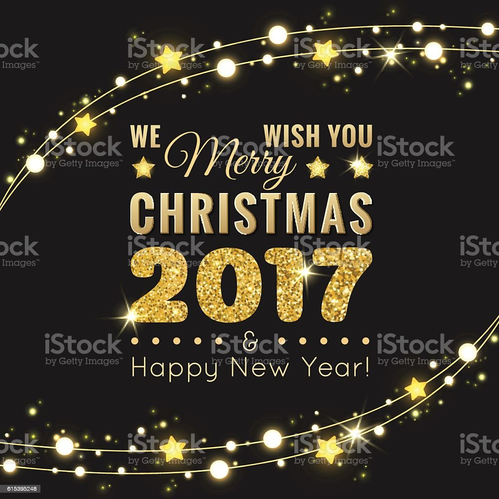 Merry christmas and happy new year 2017 greeting card stock vector merry christmas and happy new year 2017 greeting card royalty free merry christmas and happy kristyandbryce Images