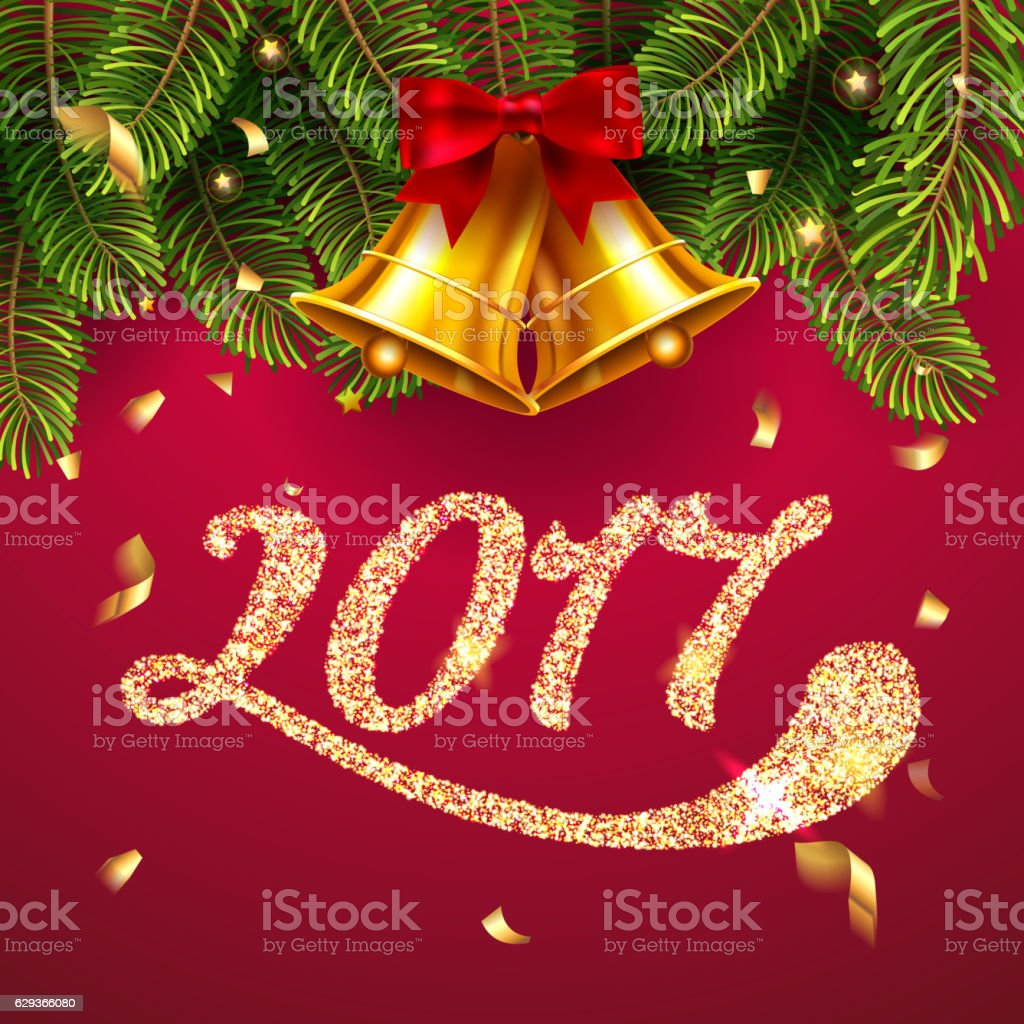 merry christmas and happy new year 2017 greeting card royalty free merry christmas and happy