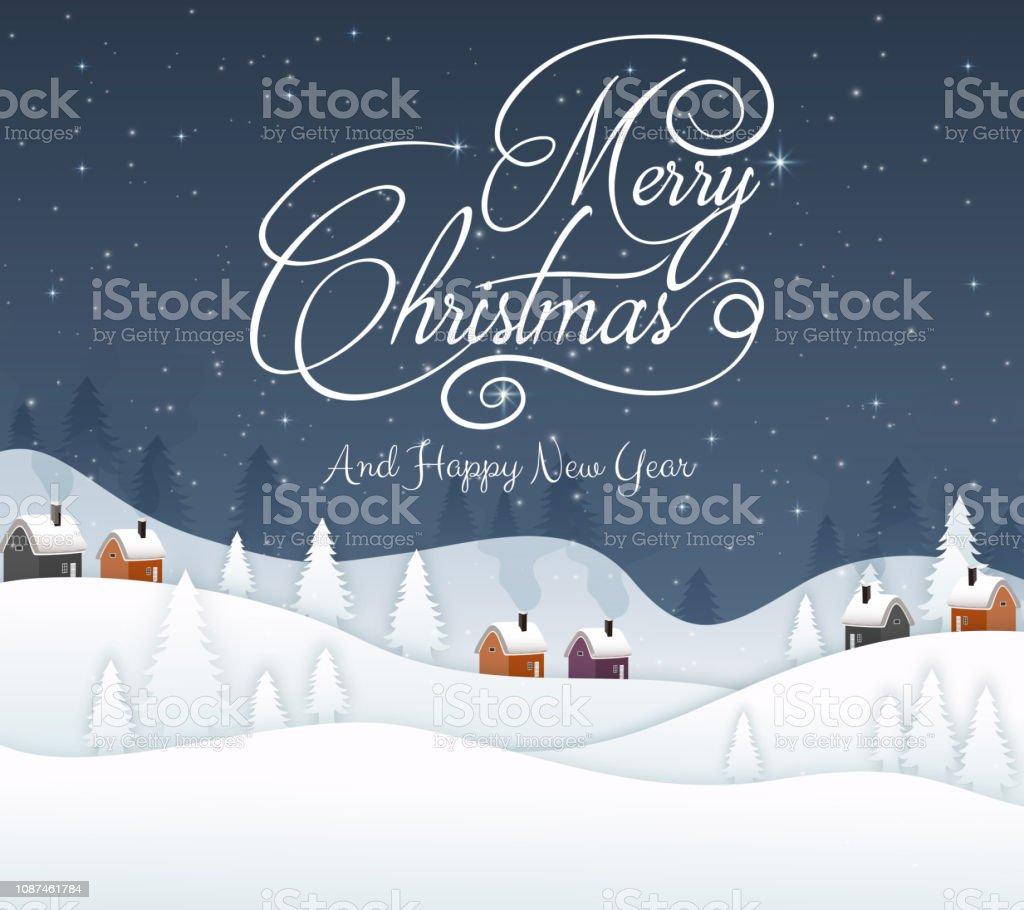 Weihnachten 2019 Schnee.Frohe Weihnachten Und Happy New Year2019 Und Blaue Marine