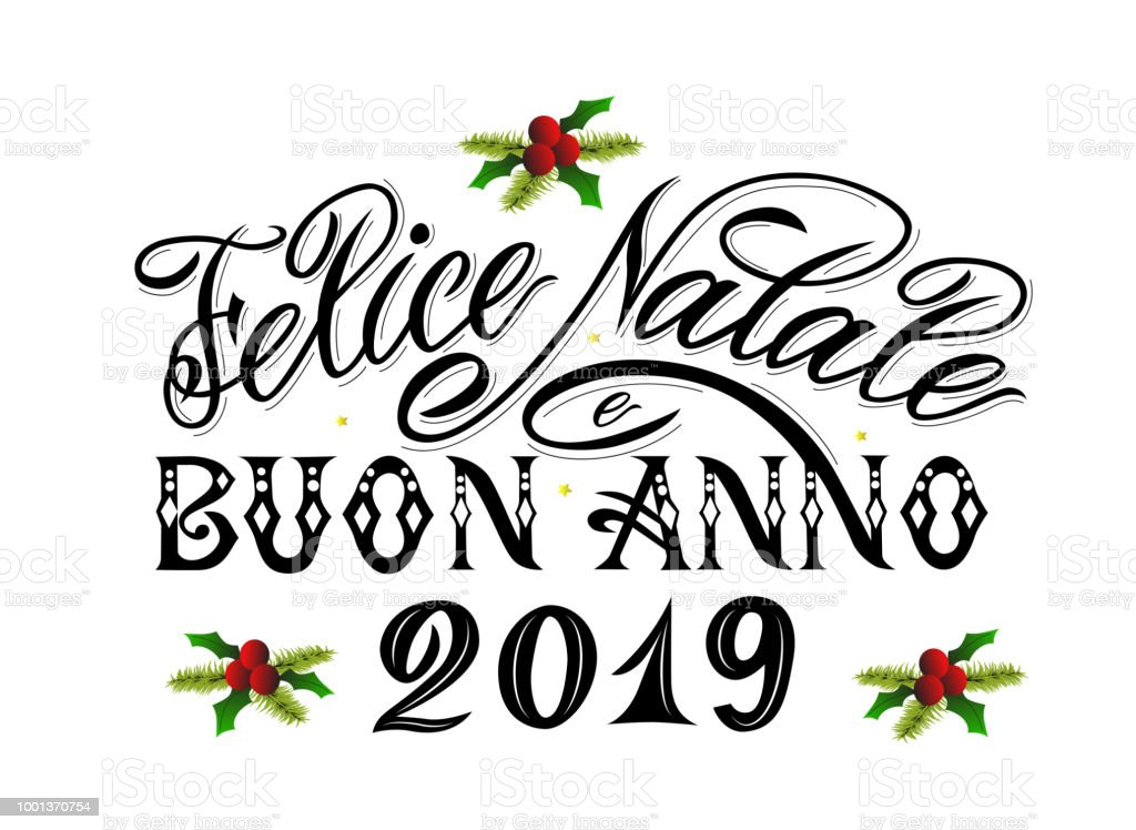 merry christmas and happy new year 2019 greetings text in italian language royalty free merry - How To Say Merry Christmas In Italian
