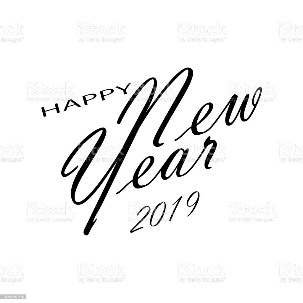 merry christmas and happy new year 2019 white background vector illustration royalty