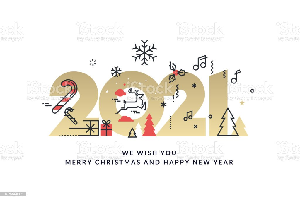 merry christmas and happy new year 2021 stock illustration download image now istock https www istockphoto com vector merry christmas and happy new year 2021 gm1270995471 373741971