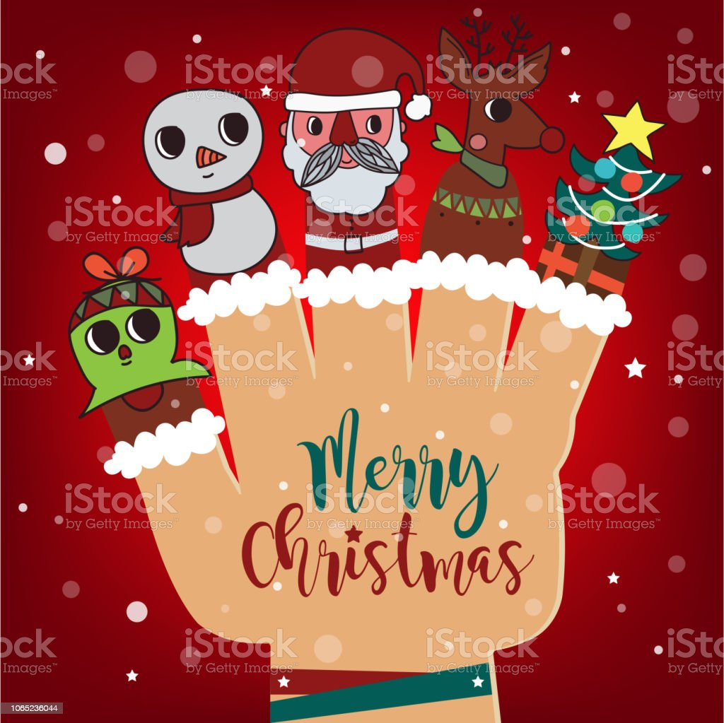 merry christmas and happy new year background santa claus and reindeer and snowman paper